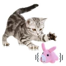 Cute Cat Animals Toy Plush Stuffed Walking Pulling Shake Pet Dogs Chew Bite Teaser Funny Toys Interactive Cat Toys Pet Supplies