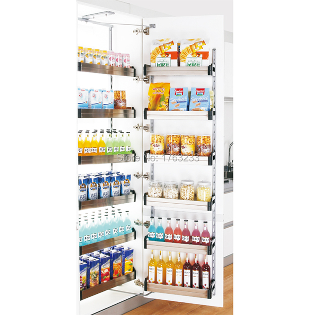 Metal Kitchen Cabinet Tall Unit Pull Out Basket Pantry Organizer Large Drawing For 450 600