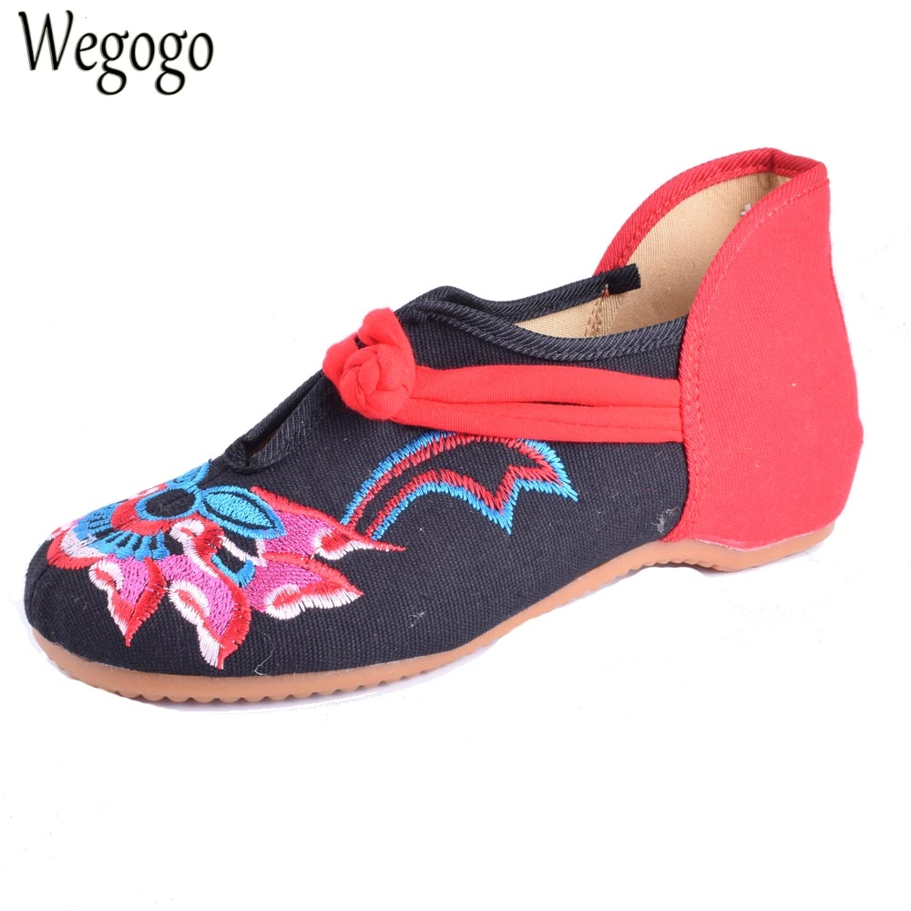 Women Flats Shoes Cloth National Breathable Comfortable Soft Sole Canvas Dance Ballet Flat Shoes For Woman Femme Chaussures women flats summer new old beijing embroidery shoes chinese national embroidered canvas soft women s singles dance ballet shoes