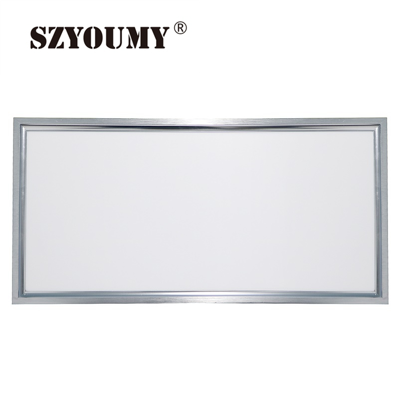 Фотография SZYOUMY 5pcs New 38W 42W 300x1200mm Led Light Panel DIY High Bright Suspended Led Panel Silver AC85-265V