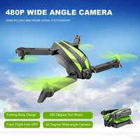 Global Drone GW68 FPV 480P/720P Camera RC Drone Folding Mini Drone Altitude Hold Aerial Photography Wide Angle RC Helicopter Toy