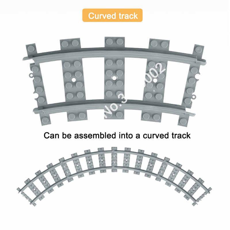 Trains de ville flexibles Rails voie modèle de chemin de fer définit les blocs de construction incurvés droits fourchus briques compatibles jouets de grande marque