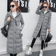 С капюшоном хлопка женщин в долгосрочной разделе зима Корейский новый Тонкий Mianfu зима толстые куртки куртка
