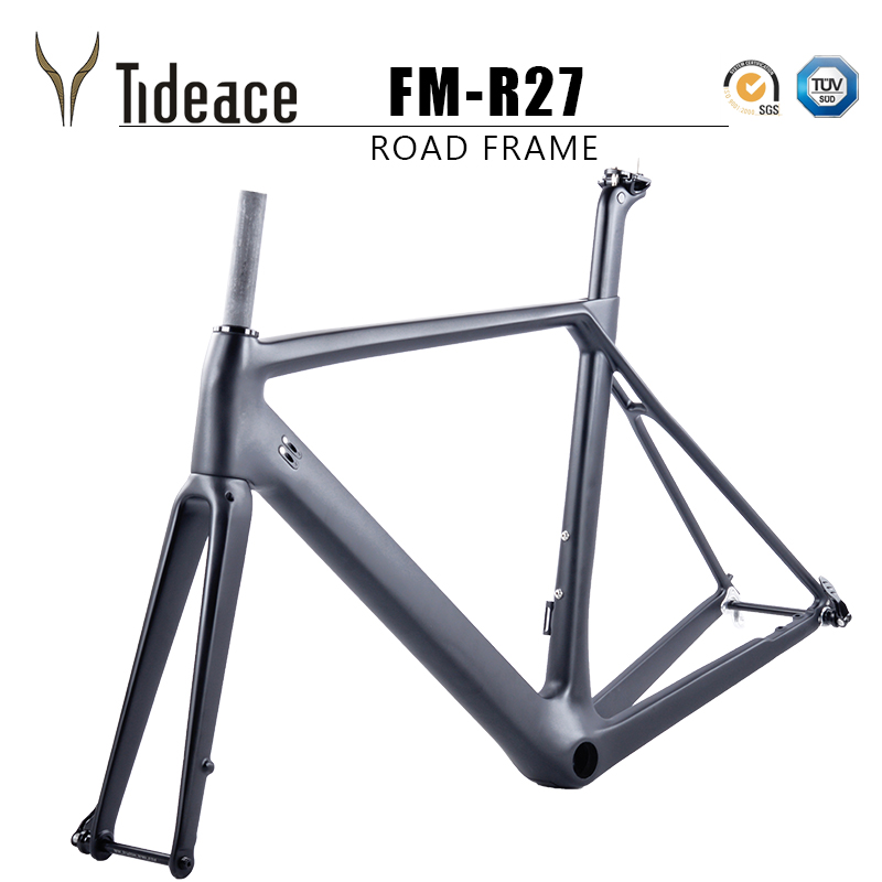 Flat Mount Disc Brake Or C Brake Chinese Carbon Road Frame T800 Aero Full Carbon Fiber Road Bike Frameset QR Or Thru Axle
