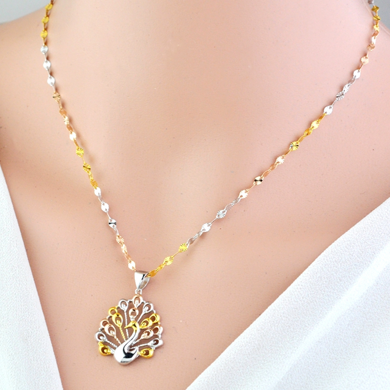 цена LouLeur 925 sterling silver peacock pendant necklace sun flower color silver exquisite necklace for women festival jewelry gift онлайн в 2017 году
