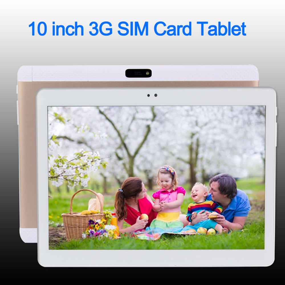 BDF New 10 inch Original 3G Phone Call SIM card Android 6.0 Quad Core IPS LCD WiFi GPS FM Tablet pc 2GB+16GB Tablet Pc OTG interpad 3g tablet 10 1 inch quad core mtk6582 ips 1280 800 dual sim phone call tablet 2gb ddr3 16gb rom wifi android tablet pc
