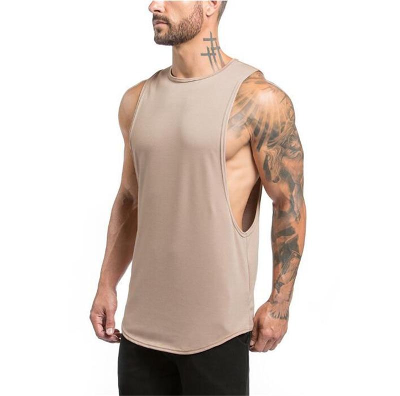 Brand Gyms Stringer Clothing Bodybuilding Tank Top Men Fitness Singlet Sleeveless Shirt Solid Cotton Muscle Vest Undershirt 45