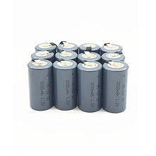 12pcs 3200mah SC 1.2V high quality Ni-CD Battery Sub C 22420 with an Extension Cord Processed into Tools Pack