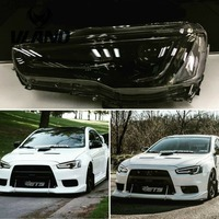 VLAND factory for Car head lamp for Lancer LED Headlight 2008 UP for Lancer Head light with xenon HID projector lens and DRL