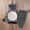 2PCS/Set Korean Kids Clothes Boys Tracksuit Baby Clothing Sport Hoodie Pant for Girls Costume Spring Autumn Child Outfits A133