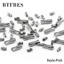 BTFBES Carving Fish Shape Black Hematite Bead Natural Stone Ore Loose Beads For Jewelry Bracelet Making DIY Findings Accessories
