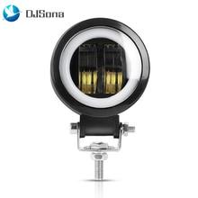 20W LED Driving Work Light Motorcycle Spotlight Flood Light Amber Fog Lamps