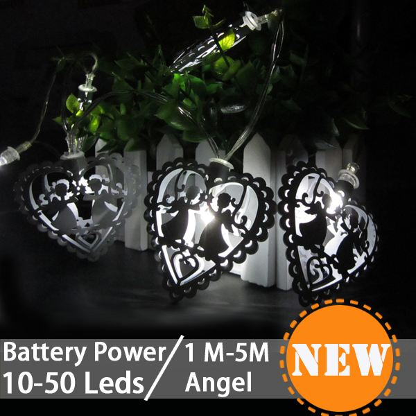 aliexpresscom buy led fairy lights decor heart shaped angel light string outdoor christmas garland wedding lights for decor home room light chain from
