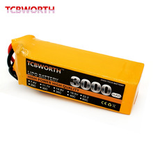 TCBWORTH Battery 6S 22.2V 3000mAh 40C RC Helicopter LiPo battery For RC Airplane Quadrotor Drone Truck AKKU RC LiPo battery 40C