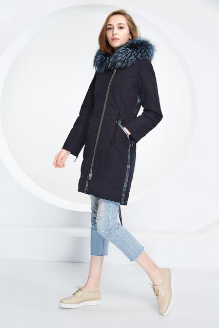 Basic Vogue Women Winter 3-Ways Conversion Casual Slim Fit Cotton Jackets with Fur – M16103