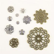 Charm Women Backless Dress Flower Receptacle Spacer Supplies For Jewelry Materials Hand Made Charms