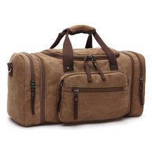 Hot Sale Large Capacity Vintage Canvas Travel Bags High Quality Men Luggage Daily Portable Handbags Shoulder Bag Free Shipping