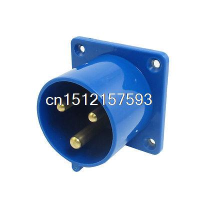 AC 220-250V 32A 2P+E IEC309-2 Industrial Plug w Washer 125a 220v 2p e industrial male plug 3pins with ce rohs 1 year warranty