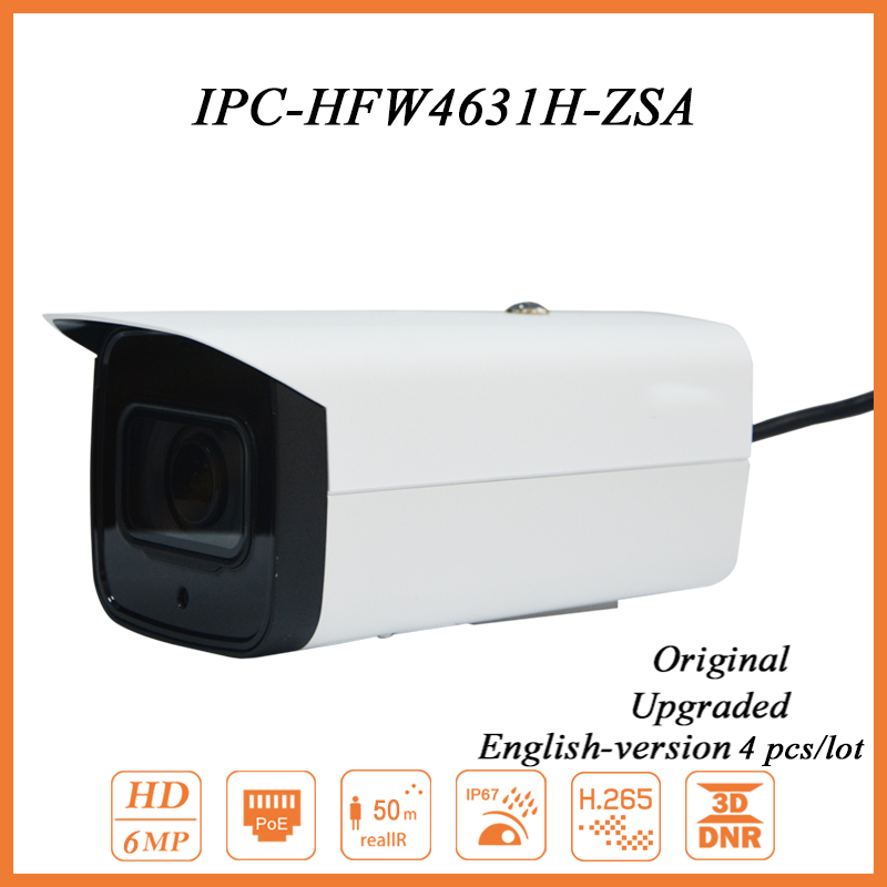 4PCSLot IPC-HFW4631F-ZSA 6MP IP Camera 5X Zoom Bullet Camera for Security Protection CCTV Camera PoE IR 50m