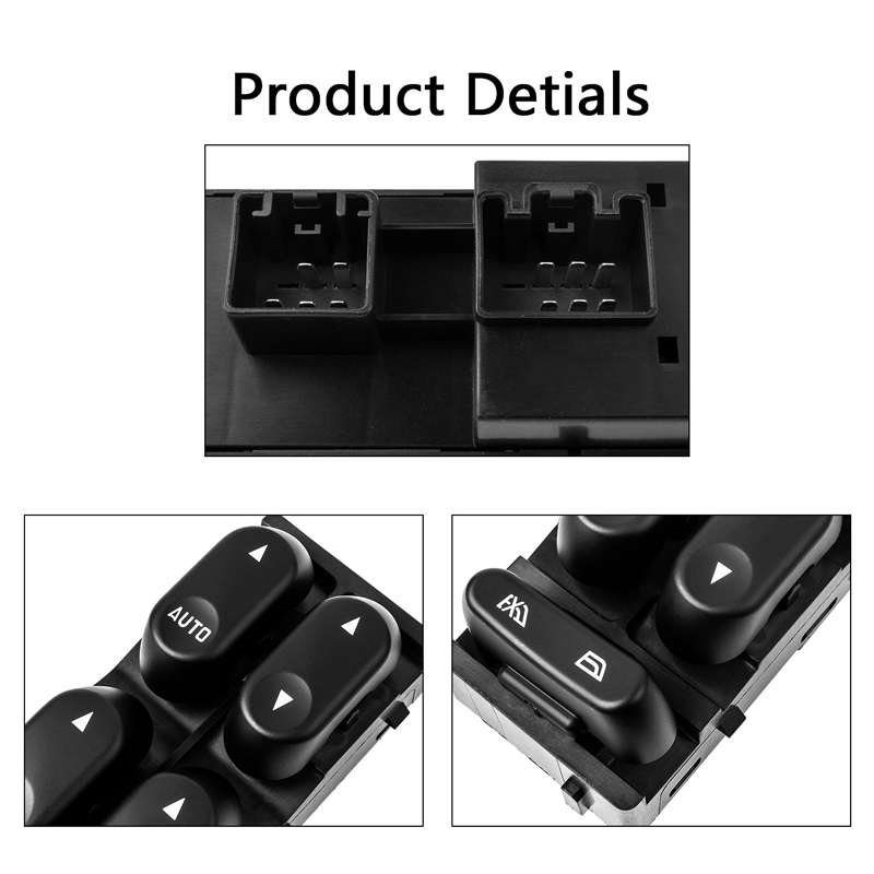 Master Power Window Switch Front Driver Side For Ford F-250 Mercury 1L2Z14529BA