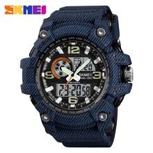все цены на SKMEI Digital Watch Men Women Outdoor Sport Waterproof Electronic Wristwatches Analog LED Quartz Watches Relogios Esportivo 1283