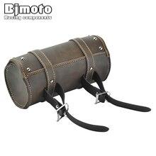 Bjmoto Vintage Motor Scooter Waterproof Bike Cycling Racing Saddle Bag motocross motorbike Bicycle Tail Rear Storage bag