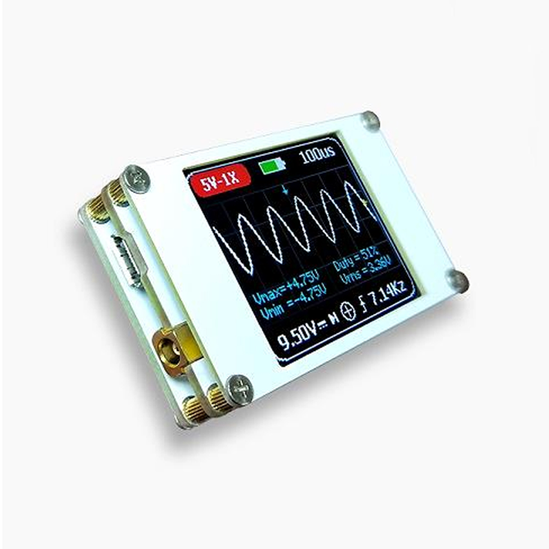 New Handheld Mini Pocket Portable Ultra-small Digital Oscilloscope 1M Bandwidth 5M Sample Rate Digital Oscilloscope Kit DSO188 2