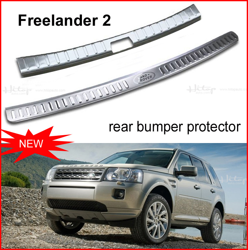 Freelander 2 rear bumper protector sill/trunk door sill, 304 stainless steel, 1pcs or 2pcs,free shipping to Asia,promotion price