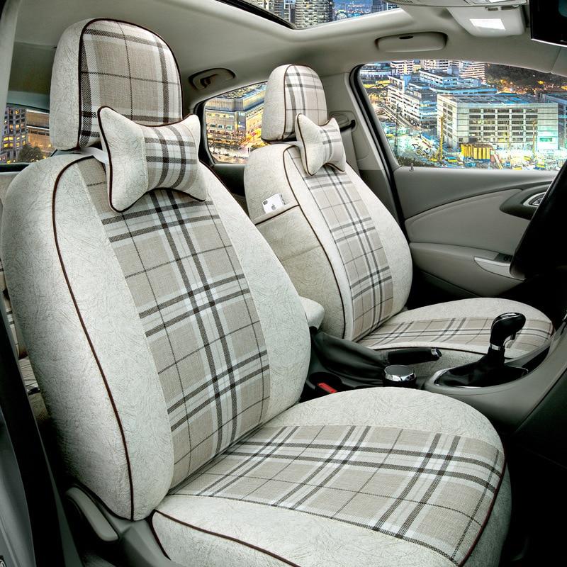 automobile new car seat covers cushion flax linen mat pads for Agila Vectra Zafira Astra GTC PAGANI ZONDA SAAB Spyker RAM HUMMER