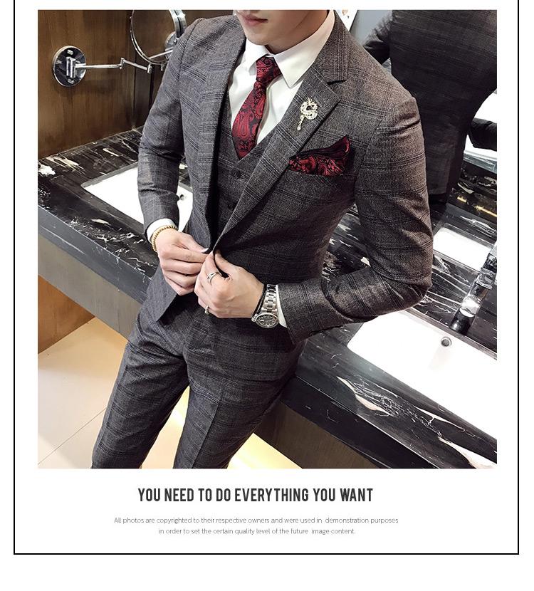 Men's plaid suit