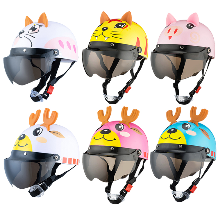 Image 2 - Unisex Flip Up Motorcycles Helmets for 3 10 Years Child Riding Snowboard Banlance Bike Scooter Motorbike Back Seat Safety Helmet-in Helmets from Automobiles & Motorcycles