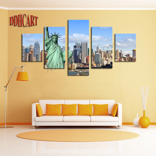 5 Piece Picture New York City HD Canvas Print Painting Artwork Wall ...