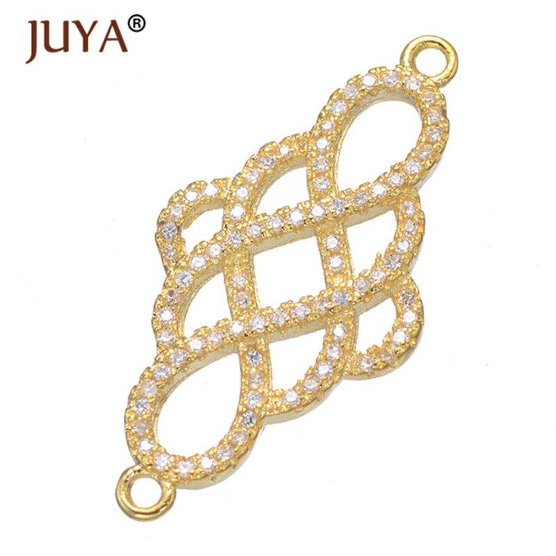10 Gold Charms Chandelier Components Connector Gold Findings Chinese Knot Links