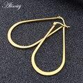 Alisouy 1 пара Крупногабаритные сексуальные платья, покрыто розовым золотом/цвет/черный большой овальной вставкой из серьги в виде колец, женск...