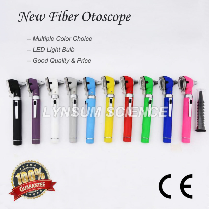 Fiber Optic LED Portable Medical Otoscopio Ear Care Diagnostic Otoscope