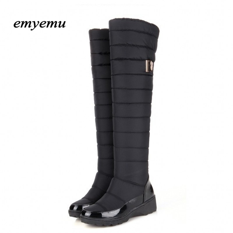 Big size New arrival super warm snow boots fashion platform fur over the knee boots warm winter boots for women shoes цены онлайн