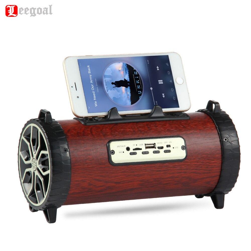 Leegoal XM-2 haut-parleur Bluetooth Portable sans fil haut-parleur de musique FM Radio TF extérieur en bois ABS haut-parleur pour IOS Android téléphone