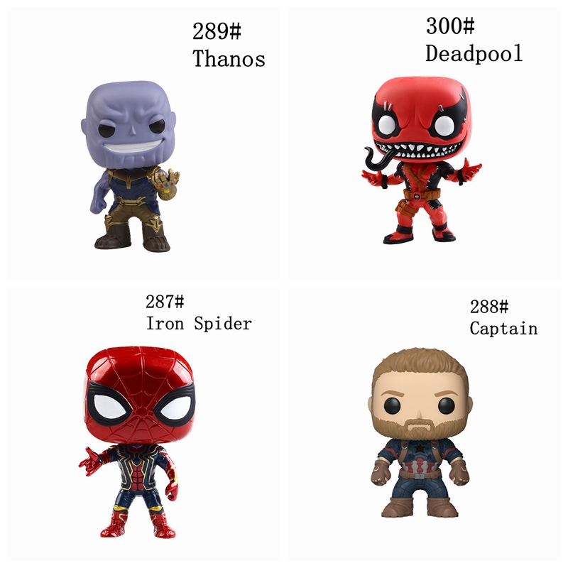 10CM The Avengers Infinity War Figurine Toy Marvel Infinity War Avengers Thanos Iron Spider Man Thor Pop Action Figures Doll