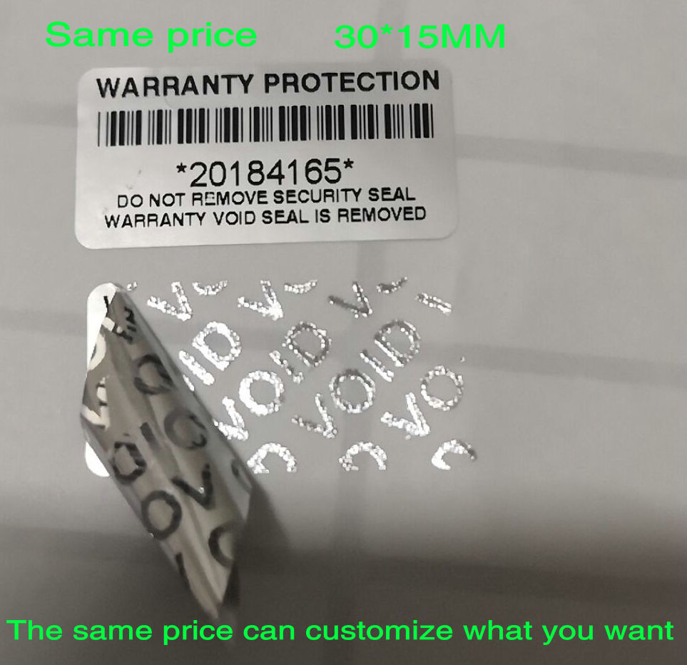 100pcs Warranty Protection Sticker  (30mm X15mm )Security Seal Tamper Proof Warranty Void Label Stickers