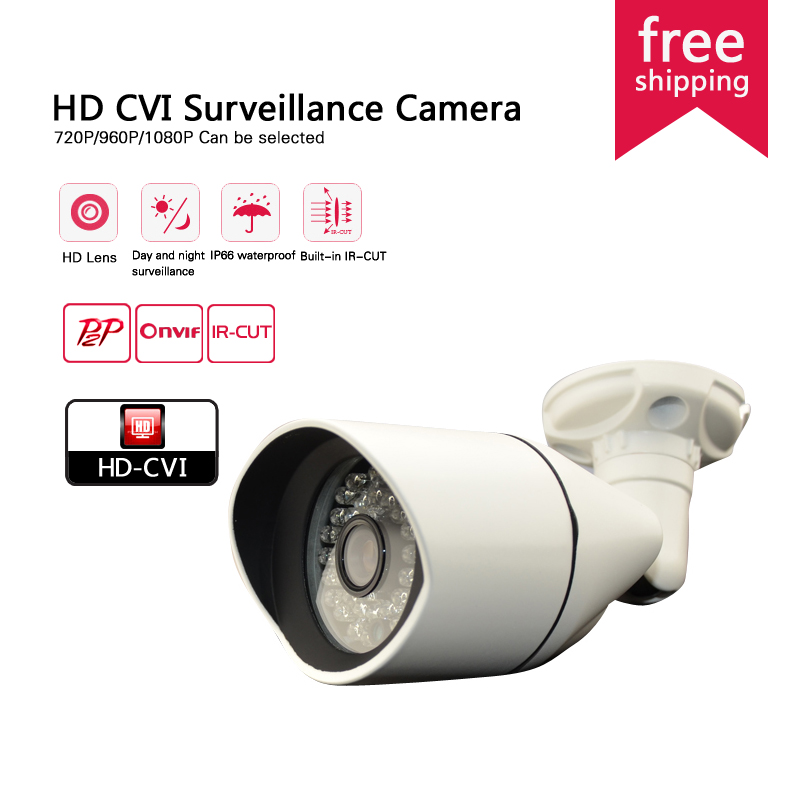 ФОТО 2016 HD 720P/960P/1080P night vision surveillance camera Outdoor CVI 36 leds Waterproof Night Vision mini cctv security camera