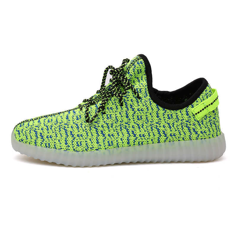 Children Yeezys Luminous Sneakers breathable light for Child Colorful Rechargeable Men Women Trainer Running Sport Shoes XZRH715 do dower men running shoes lace up sports shoes lovers yeezys air outdoor breathable 350 boost sport sneakers women hot sale