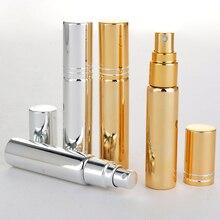 Toptan 100 adet/grup 10ML taşınabilir sprey Atomizer ultraviyole cam doldurulabilir parfüm şişesi teğet