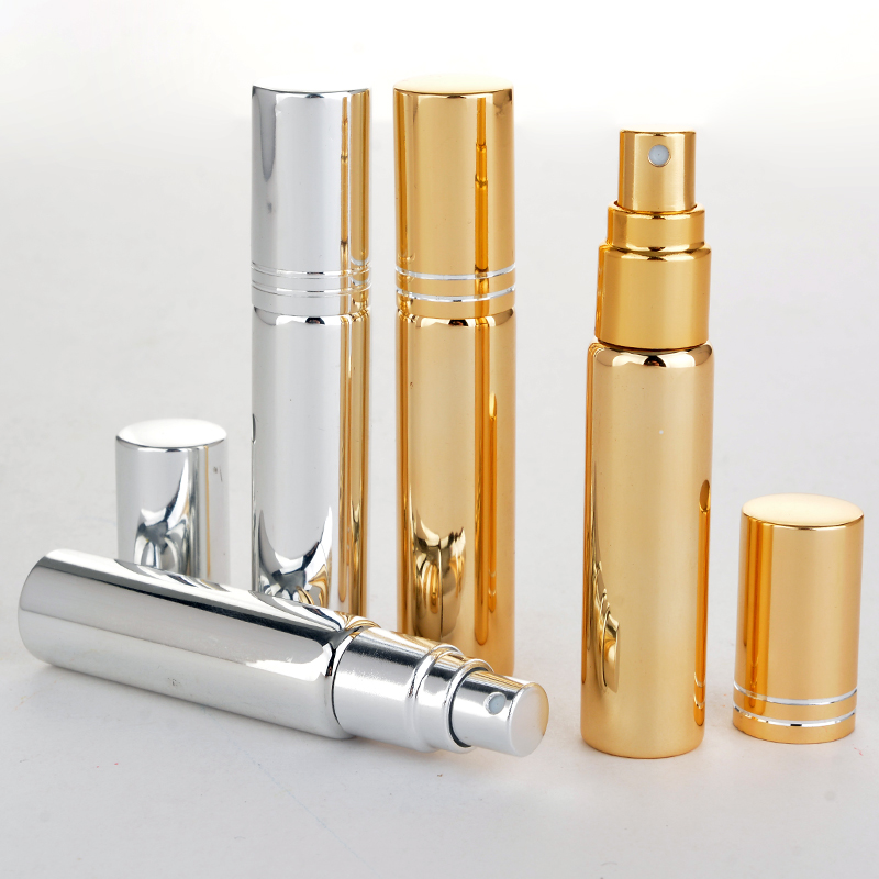 Wholesale 100 Pieces/Lot 10ML Portable UV  Glass Refillable Perfume Bottle With  Atomizer Empty Parfum Case With Tangent Cove