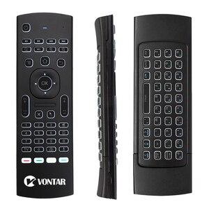 Image 2 - Arka ışık MX3 PRO hava fare ses uzaktan kumanda 2.4G kablosuz klavye MX3 rusça İngilizce IR öğrenme için H96 X96 max TV kutusu