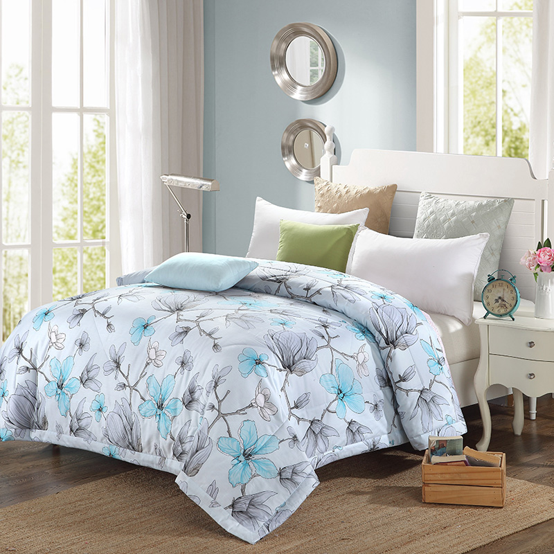 Elegant And Stylish Orchid Pattern Cotton Home Textiles Fabric Summer Quilt Air Conditioning Thin Duvets Print Comforter In Quilts From Garden