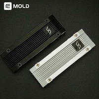 FUXK M.2 hard disk radiator M.2 Heat sink M.2 Conductive pad all aluminum alloy Solid hard disk NVME SSD heatsink watercooling