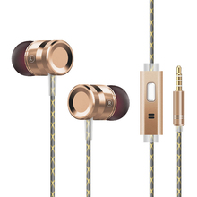 G63 Fone De Ouvido Headphone Metal Heavy Bass In Ear Earphone Resist Twine With Microphone Headset For Mp3 iPhone Android Xiaomi