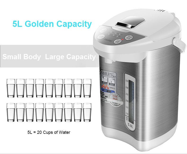 Electric Kettle Thermal Insulation 5L Automatic Power-off Water Bottle for Home Water Boiling Pot Temp Declining 700w portable food grade plasctic electric kettle thermal insulation teapot 0 5l home travel water boiler seperated underpan