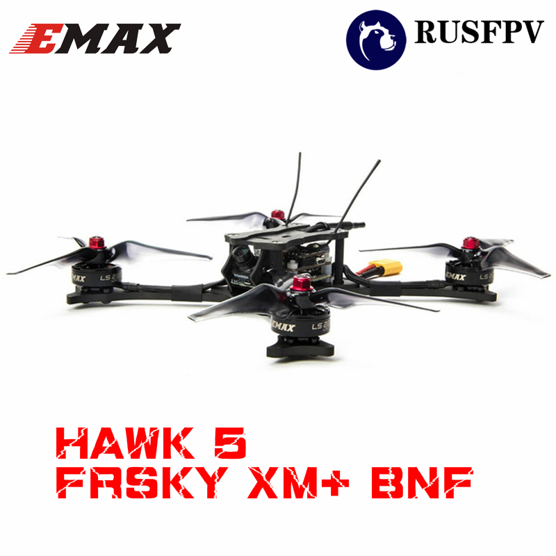 Emax HAWK 5 F4 OSD BLHeli_S 30A FrSky XM+ RX Foxeer Arrow Micro V2 600TVL BNF FPV Racing Drone Quadcopter