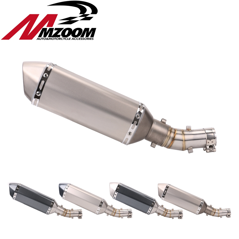 Motorcycle Exhaust Pipe Muffler Escape +A Front middle connect for kawasaki ER6N